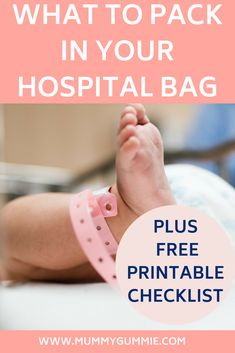 What to pack in your hospital bag for labour, includes lists for mum, baby, and partner. plus free printable checklist Labor Hospital Bag, Hospital Bag Checklist, Birthing Ball, Delivery Room, Pregnancy Stages, Parenting Toddlers, What To Pack, Infant Activities, Getting Pregnant