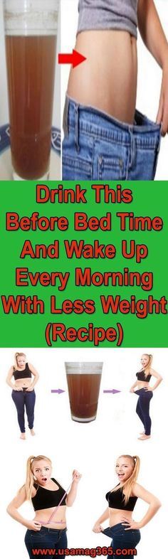 DRINK THIS BEFORE BEDTIME AND WAKE UP EVERY MORNING WITH LESS WEIGHT (RECIPE)