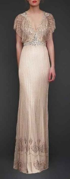 Gatsby-inspired dress. Love the detail!