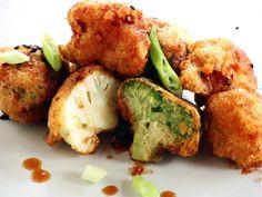Broccoli & Cauliflower Frito Misto With Dipping Sauce