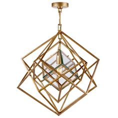 Fabulous! Cubes in Cubes Geometric Light Pendant Chandelier.