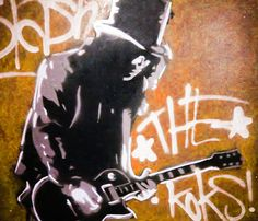 Slash Guns n Roses Rock n Roll Stencil Graffiti Spray Art PopArt MAKE KOKS