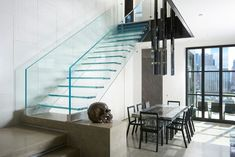 Minimal hardware, straight lines, highes quality edge finishes - just Siller Glass Stairs, Minimalism, Straight Lines, Hardware, Home Decor, Decoration Home, Room Decor, Computer Hardware, Home Interior Design
