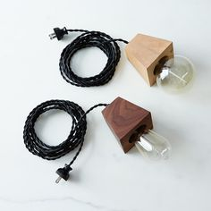 Wood Block & Edison Bulb Lamp on Provisions by Food52