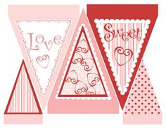 Free Printable for Valentine Banner and a bunch more Valentine crafts