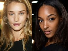 <strong>The look:</strong> Ironically the biggest makeup trend for Spring/Summer 2014 is for little or no makeup. Even Victoria Beckham was behind this one. As we don't all have flawless complexions like Rosie Huntington Whiteley and Jourdan Dunn (pictured), this look is about well-conditioned skin.<br /><br /><strong>The shows:</strong> At Balmain (left) clever concealing and lip conditioning were demonstrated and at Alexander Wang makeup artists curled the lashes and groomed the brows.<br…