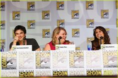 Celeb Diary: Ian Somerhalder, Nina Dobrev, Kat Graham, Candice Accola & Paul Wesley @ 2013 Comic-Con