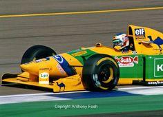 Michael Schumacher Benetton Ford B193 F1 GP Gran Bretagna circuito di Silverstone 1993