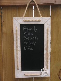 Rustic Nautical Framed Chalkboard