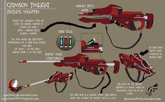'Crimson Twilight' - RWBY OC Weapon (Commission) by DenalCC1010.deviantart.com…