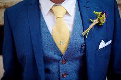 Handmade skinny tie Mustard yellow Linen