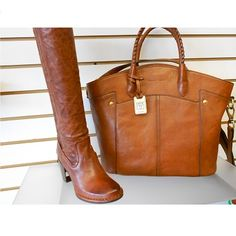 Frye Boots  Lucinda Scrunch   588 Renee Tote   688 Mahone Bay Trading  Company carries The Frye Company boots and bags. 195cc267f7e