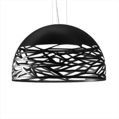 The Kelly Large Dome 80 Pendant Light was designed by Andrea Tosetto and made by Studio Italia Design in Italy. This pendant features laser cut detail that evokes an image of leaves falling from a tree, and create a unique pattern of light. Dining Lighting, Metal, Italia Design, Large, Pendant Light, Glass, Interior Deluxe, Light, Bronze