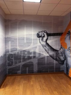 Tennessee Environmental Graphics, Environmental Design, Work Inspiration, Creative Inspiration, Office Mural, Gym Interior, Sports Wall, Sports Graphics, Signage Design