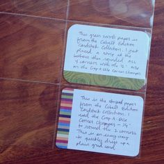 great ideas for decorating horizontal journal cards