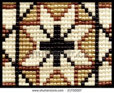 Native American Indian Designs | beaded traditional native american indian star design - stock photo