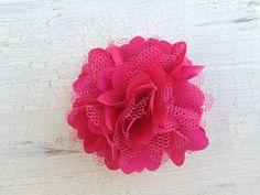 Magenta Pink Flower Hair Clip