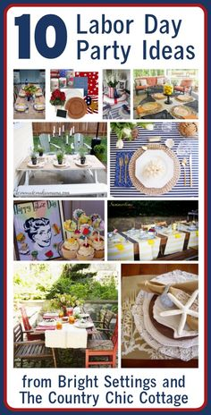 Here's some more party ideas for you! Tons of Labor Day party ideas. From nautical to colorful to patriotic.how will you decorate your table for a labor day party? Holiday Parties, Holiday Fun, Holiday Ideas, Zucchini, Labor Day Holiday, Summer Bash, Summer Fun, Pak Choi, Labour Day Weekend