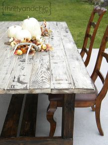 outdoor farmhouse table, outdoor furniture, outdoor living, painted furniture