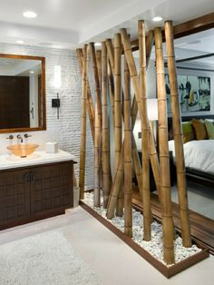 Le bambou décoratif donne partout une touche particulière de sérénité et de quiétude. Venez consulter nos photos pour vous inspirer de son utilisation!