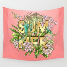 SUMMER Wall Tapestry by MIKART | Society6