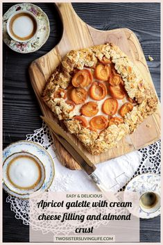 This is an easy and unique recipe for a delicious apricot galette with a vanilla cream cheese filling and almond crust. Wonderfully flavourful and rustic. Perfect for your next Sunday dinner. Apricot Galette Recipe, Apricot Recipes, Summer Desserts, Easy Desserts, Dessert Recipes, Fruit Dessert, Sweet Desserts, Tart Recipes, Sweet Recipes