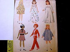 Vintage McCalls 1960s Doll Clothes Pattern by PatternsFromThePast