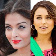Who do you choose? Aishwarya Rai (left) a famous Bollywood actress and Miss World 1994 or Rani Mukherji (right) my favorite Bollywood actress and the Queen in my opinion! It is obvious who you should pick!