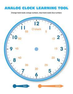 Analog Clock - Minute and Hour Hand Teaching Tool