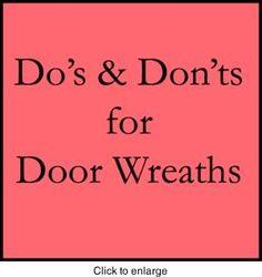 Door Wreath Information