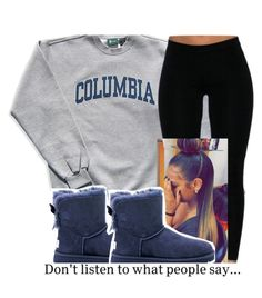""""" by leshabest ❤ liked on Polyvore featuring Columbia and UGG Australia"