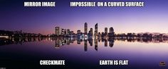 Image result for mirror image impossible curved earth