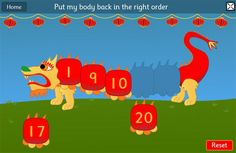 Chinese Dragon Game Ordering and Sequencing Numbers maths game  which is ideal if you are working on a Chinese New Year topic #chinesenewyear #mathgames