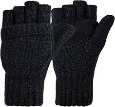 Korlon Winter Warm Wool Knitted Convertible Gloves Mittens with Mitten Cover -- More info could be found at the image url. (This is an affiliate link)