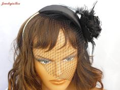 French/Russian Birdcage Veiling Head Cap by JewelryinBox on Etsy, $65.00