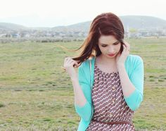 """My Thoughts On Chevron."" #blog #blogger #styleblog #clothes #fashion #style #chevron #dress #turquoise #brown #tan #white #cardigan #spring #vintage #classy #classic #auburnhair #hair #curls #redhair #chesnutbrown #hairideas #hairidea #springfashion #forever21 #photography #eyelashes #makeup #field #nature DarlingOnADollar.com"