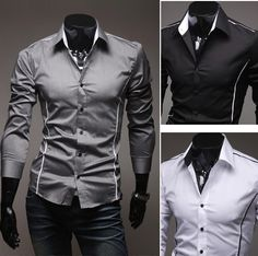 Mens Luxury Casual Slim Fit Stylish Dress Shirts