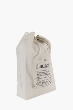 Script Draw String Laundry Bag