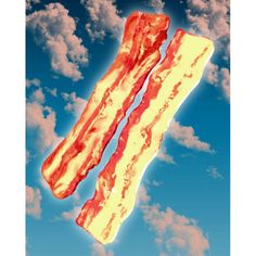 The Dawn of Bacon sky bacon Angels of bacon by ArtAkimbo on Etsy, $24.00
