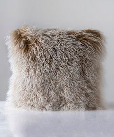 Look at this Brown Tibetan Lamb Fur Pillow Fur Pillow, Throw Pillows, Glamping, Lamb, Brown, Decor, Cushions, Decorative Pillows, Go Glamping