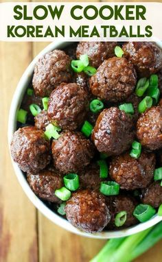 Slow Cooker Korean Meatballs are the perfect dinner or appetizer. So easy to mak… Slow Cooker Korean Meatballs are the perfect dinner or appetizer. So easy to make with just a few ingredients! Sure to be a family favorite! Health Slow Cooker Recipes, Slow Cooker Hamburger Recipes, Slow Cooker Freezer Meals, Cooking Recipes, Crockpot Recipes, Slow Cooking, Slow Cooker Recipes Cheap, Slow Cooker Dips, Slow Cooker Korean Beef