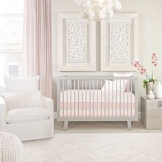 Nursery Goals Anyone This Super Sweet Pink And Gray Hits It