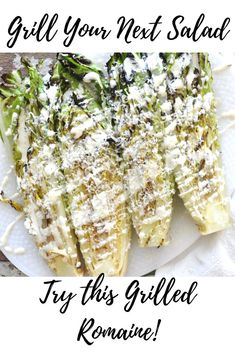 Why not try grilling your next salad? This quick and easy Grilled Romaine will take your next cookout over the top! Side Dish Recipes, Fish Recipes, Seafood Recipes, Beef Recipes, Vegetable Recipes, Side Dishes, Grilled Romaine, Grilled Fruit, Best Salad Recipes