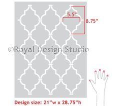 Royal Design Studio - Casablanca Trellis Moroccan Wall Stencil. Allover Moroccan Wall Stencils