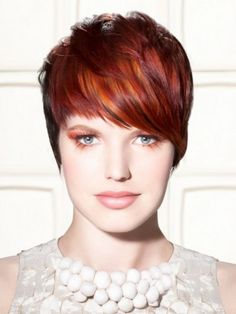 short copper red hair color - Google Search