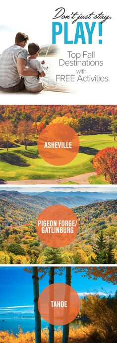 Plan a fall getaway to one of Xplorie's beautiful destinations. Enjoy free activities every day of your stay when you book your vacation rental with Xplorie!