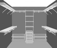 small walk in closet design layout - Google Search