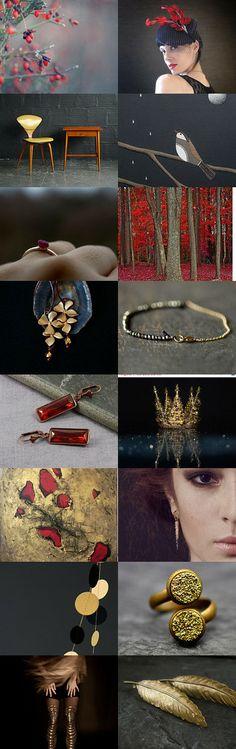 winter princess #etsytreasury by Barbara on #Etsy #bestofetsy #gifts #christmas #gold #burgundy