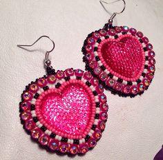 Native American Beaded Earrings: Heart set on Etsy, $25.00