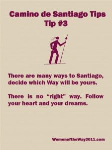 """There are many """"Caminos"""" or routes to Santiago; choose which will be yours."""
